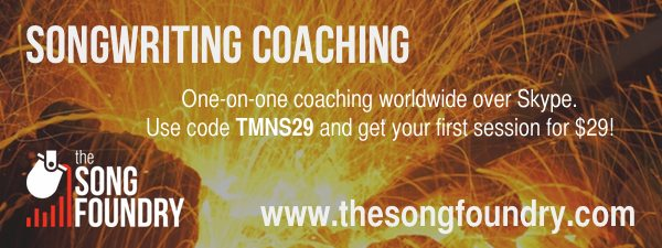 ARTIST OFFER: Songwriting coaching at THE SONG FOUNDRY
