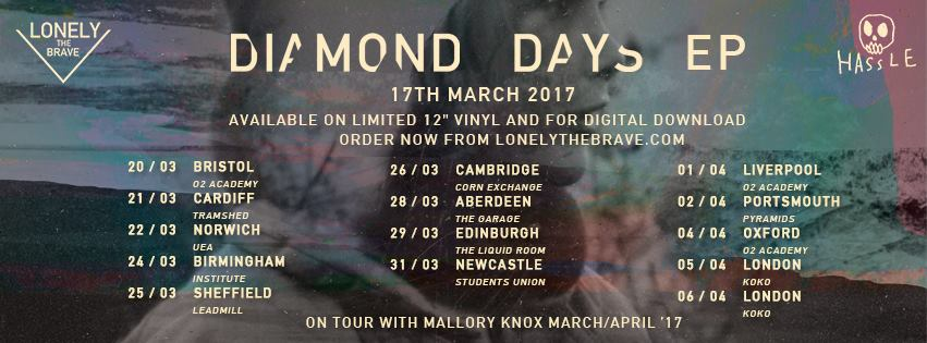 Lonely The Brave Share Cover of 'The Rat' | New EP 'Diamond Days' | @lonelythebrave