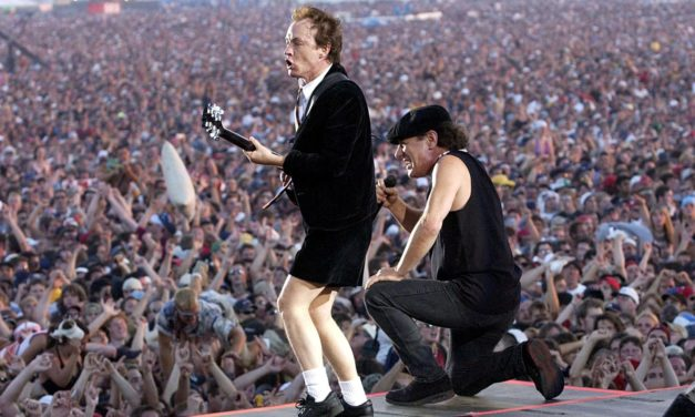 #MusicMoments | Brian Johnson and Angus Young of AC/DC on stage