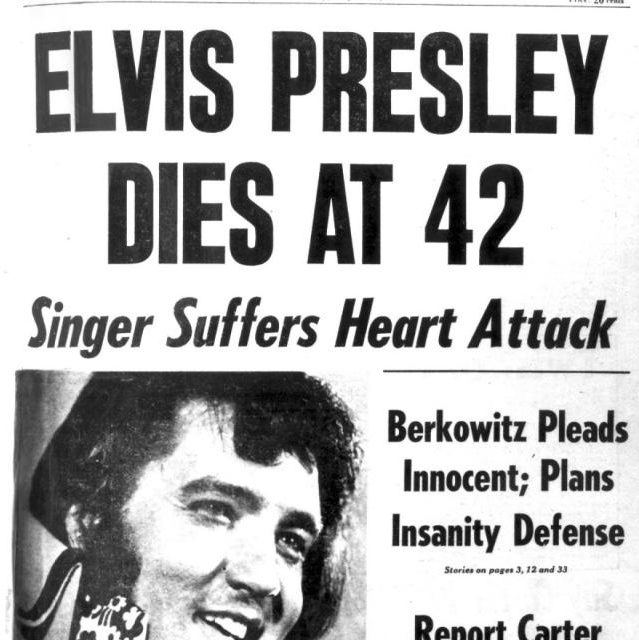 musicmoments elvis presley dies of a heart attack 1977 the