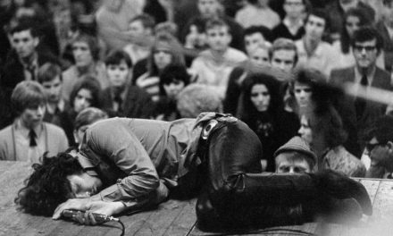#MusicMoments | Jim Morrison Laying on Stage During a 1968 Concert for The Doors