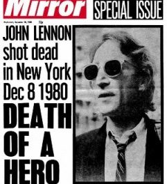 #MusicMoments | John Lennon is Shot Dead in New York, December 8th, 1980