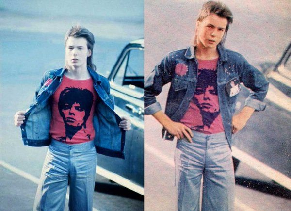 #MusicMoments: 16 year old Sid Vicious going to a David Bowie concert at Earls Court, 1973. #TheMusicSite