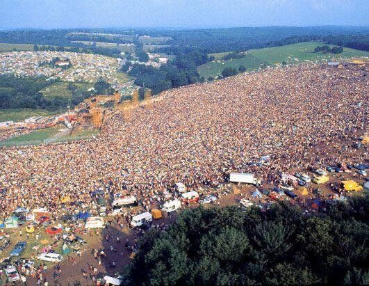 #MusicMoments: Aerial shot of Woodstock, 1969. #TheMusicSite