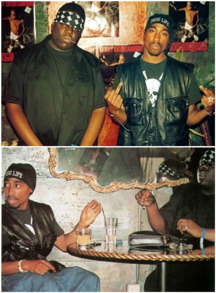 #MusicMoments: Biggie and Tupac. #TheMusicSite