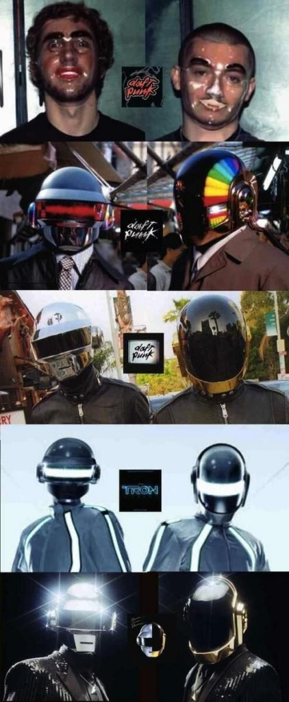 #MusicMoments: Evolution of the Daft Punk Helmets #TheMusicSite