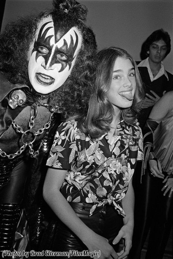 #MusicMoments: Gene Simmons and a thirteen year old Brooke Shields, 1978. #TheMusicSite