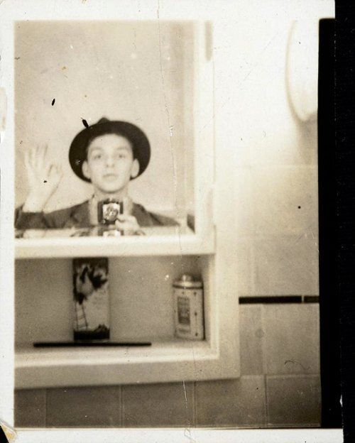 #MusicMoments: Sinatra's selfie. Frank Sinatra taking a mirror selfie, 1938. #MusicMoments: Selena holding her Grammy at the 1994 awards show. #MusicMoments: The Red Hot Chili Peppers. #TheMusicSite