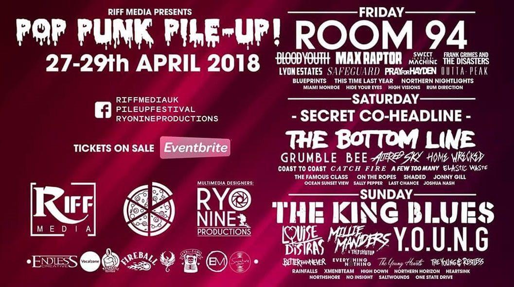 Pop Punk Pile Up Festival Reveals 2018 Line-Up