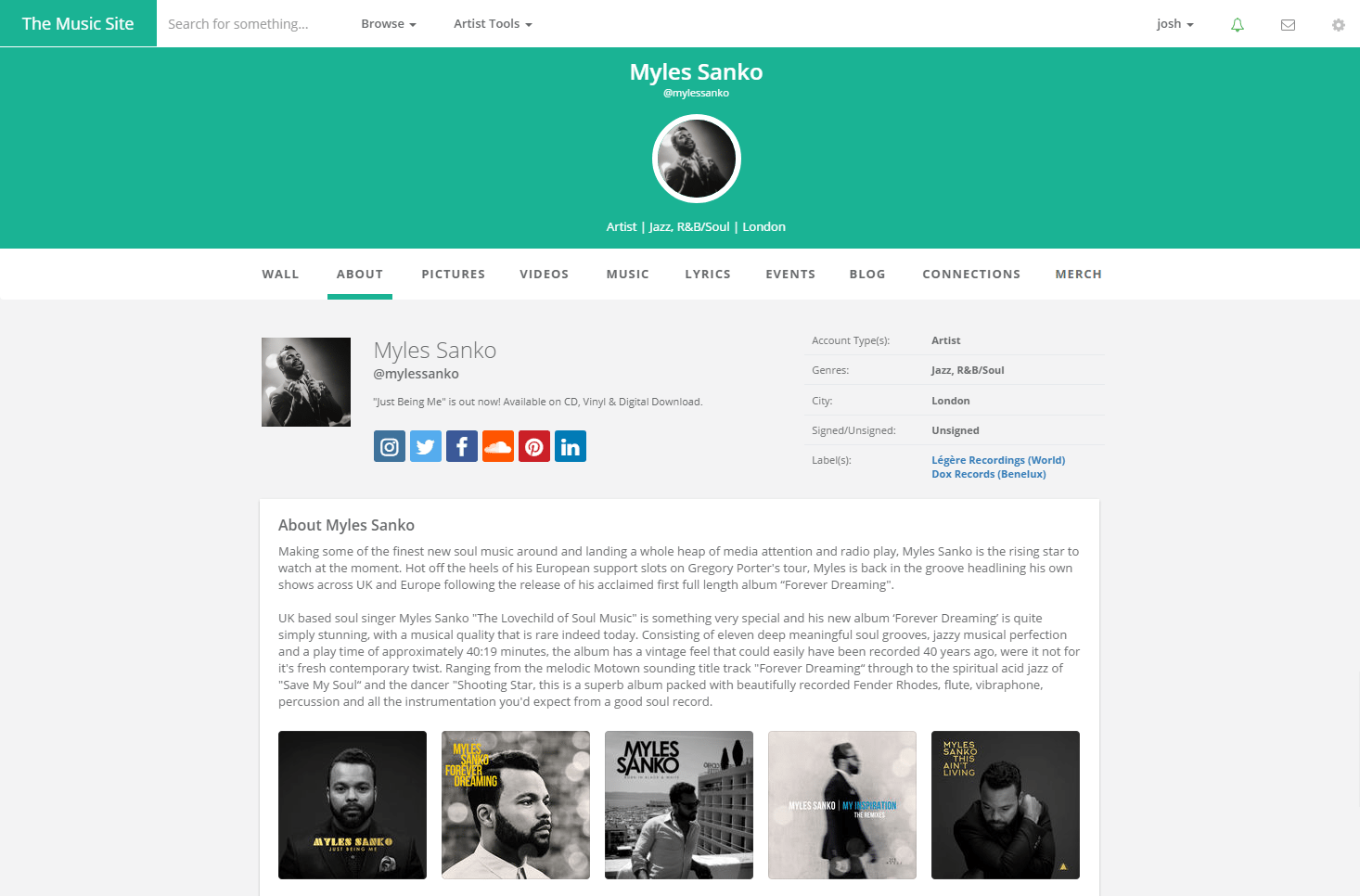 Music Profile