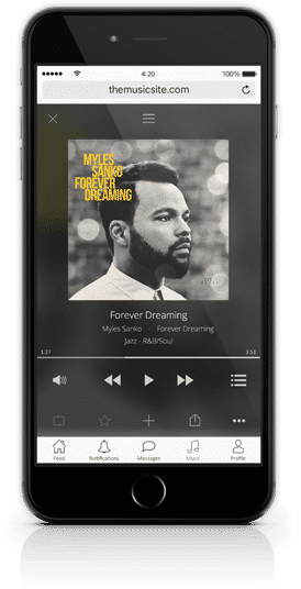 Music Player on Mobile